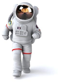 Astronauta - ilustracja 3d