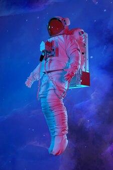 Astronauta w kosmosie. renderowania 3d.