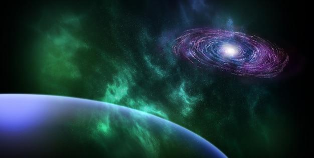 Astronautyczny abstrakcjonistyczny tło
