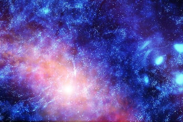 Astronomiczne zdjęcie wszechświata w odległej galaktyce z mgławicami i gwiazdami