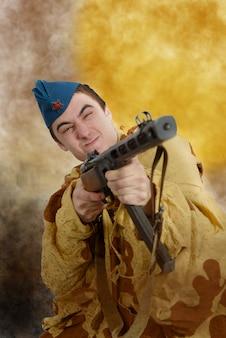 Atak radzieckiego żołnierza ww2
