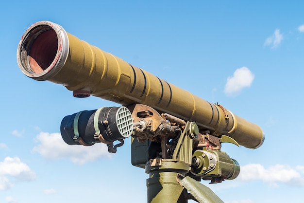 Atgm zamontowany na starym rosyjskim czołgu