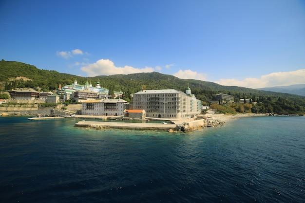 Athos grecja mounastery morze.