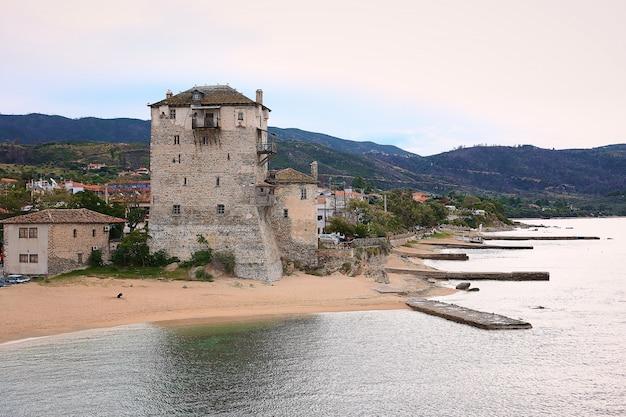 Athos grecja mounastery morze