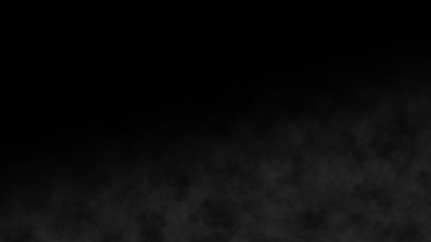 Atmosferyczny dym powoli biały element efektu mgły. kinowe tło zamglenie. realistyczna najlepsza abstrakcjonistyczna chmura dymu zwolnione tempo na tle. rosnąca para wodna na czarno. spooky magic halloween.