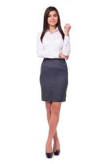 Atrakcyjny młody bizneswoman