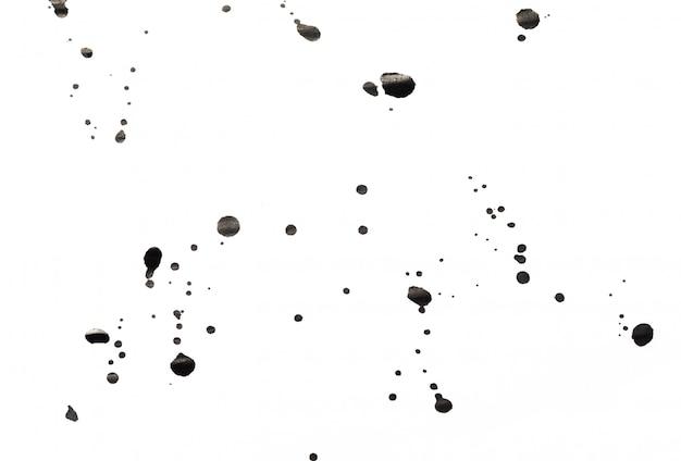 Atrament zmaza na białym tle