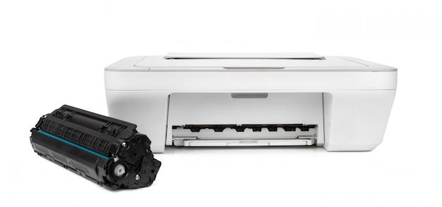 Atramentowa drukarka odizolowywająca na białym tle