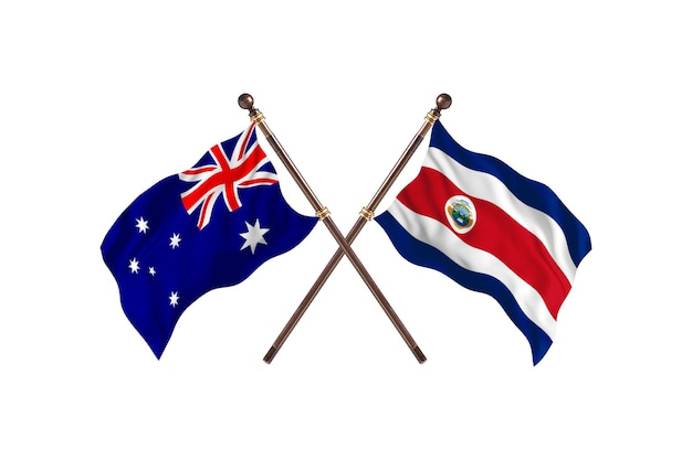 Australia kontra kostaryka flagi tło