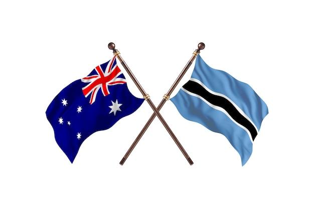 Australia kontra tło flagi botswany