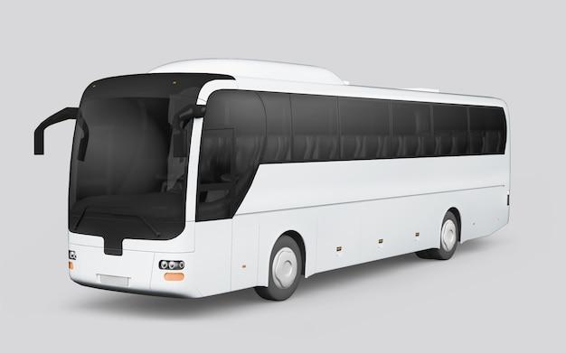 Autobus na białym tle