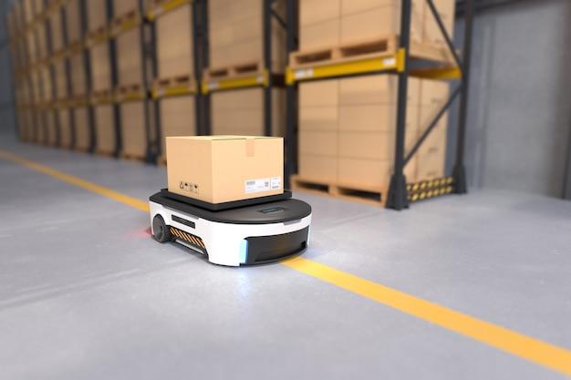 Autonomiczny transport robotów w magazynach