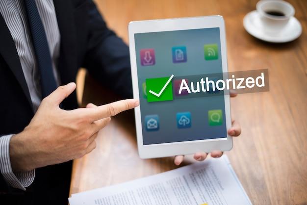 Autoryzowany certyfikat gwarantowany zatwierdzony produkt