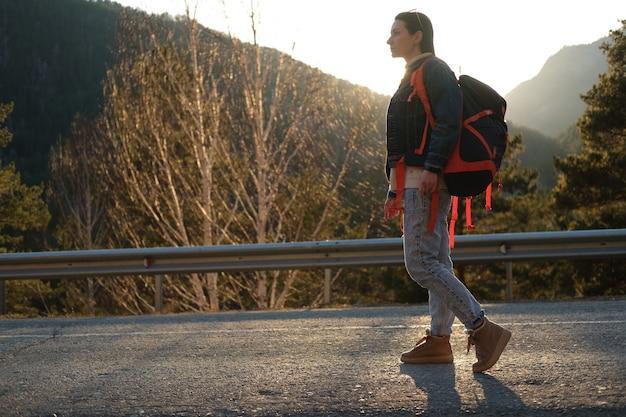 Autostop w górach