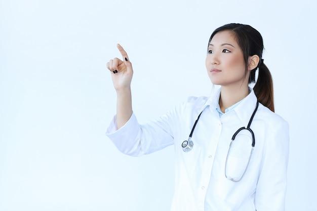 Azjatycka kobiety lekarka, kobieta specjalista