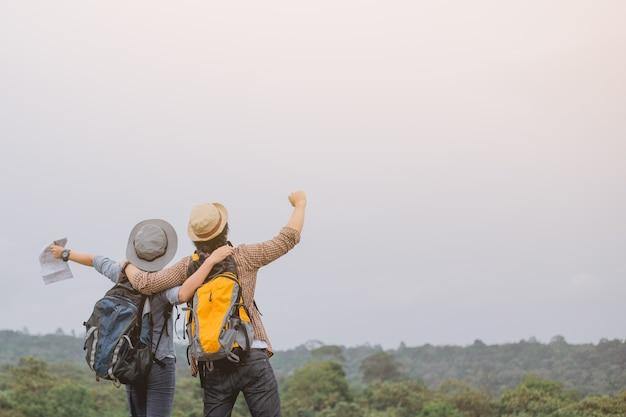Azjatycka przygoda, podróże, turystyka, wędrówka i koncepcja ludzi