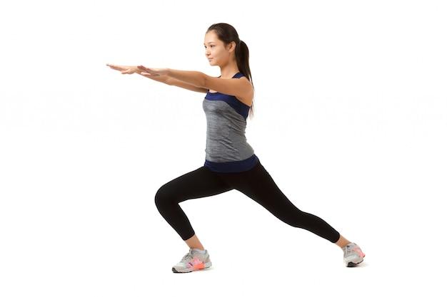 Azjatycka sprawności fizycznej kobieta