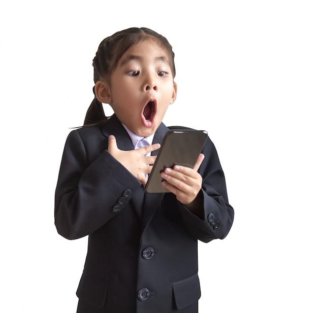 Azjatycki model dzieci z jednolitego biznesu w modelu portretu.