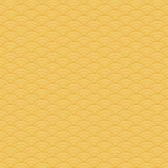 Azjatycki pomarańczowy bezszwowy okręgu wzór, japoński ornament - ilustracja