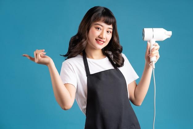 Azjatycki portret kobiecy fryzjer