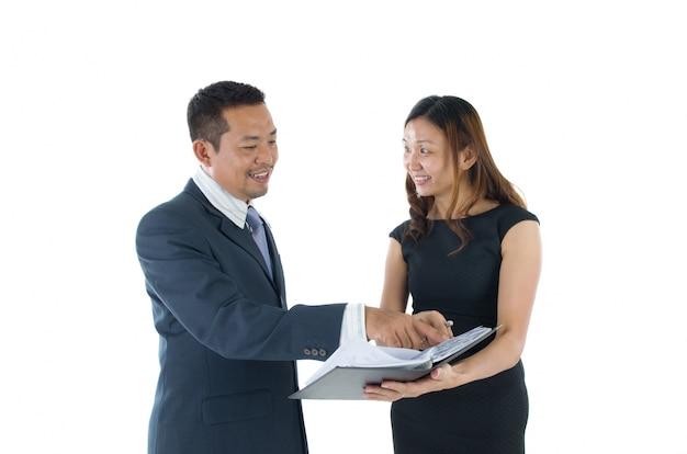 Azjatycki zespół biznesowy