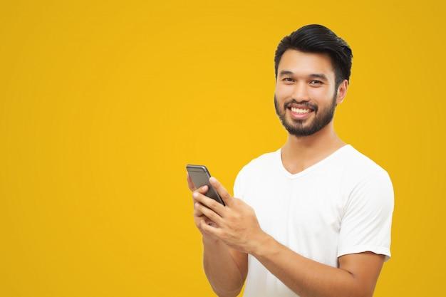 Azjatyckiego biznesowego mężczyzna przystojny mężczyzna z wąsy