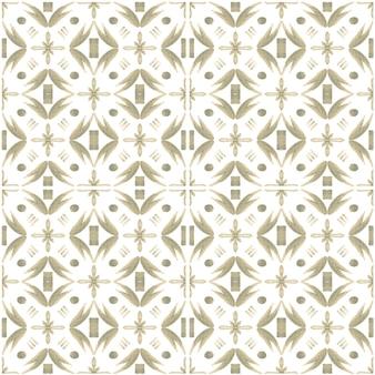 Azulejo akwarela bezszwowe wzór. tradycyjne portugalskie płytki ceramiczne. ręcznie rysowane streszczenie tło. grafika akwarelowa do tekstyliów, tapet, druku, projektowania strojów kąpielowych. szary wzór azulejo.