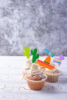 Babeczki do świętowania meksykańskiej fiesty