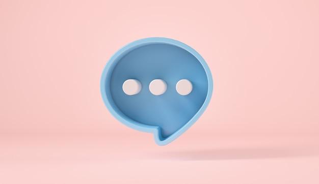 Bąbelkowy symbol znaku rozmowy lub komentarza na różowym tle