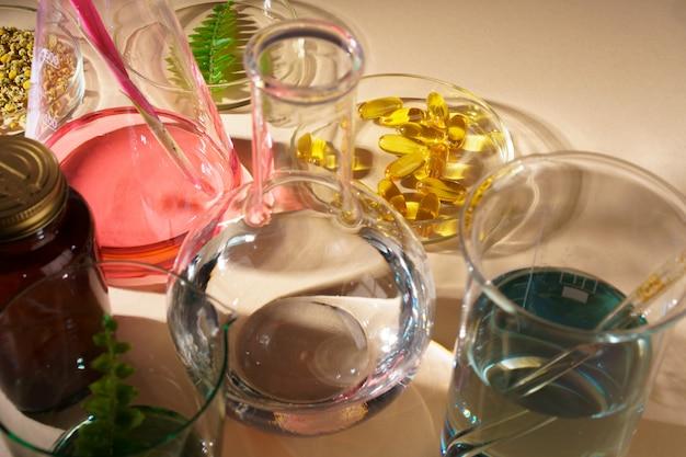 Badanie koncepcyjne suplementów diety do pielęgnacji skóry i urody w laboratorium