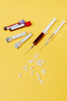 Badanie krwi i szczepionki