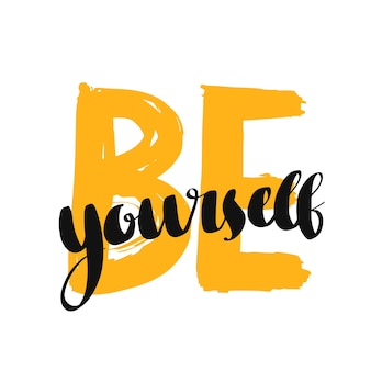 Bądź sobą typografią