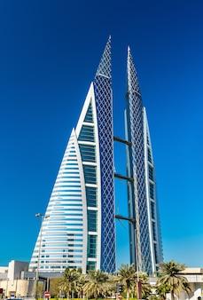 Bahrain World Trade Center W Manamie Premium Zdjęcia