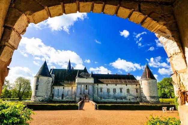 Bajkowe średniowieczne zamki w dolinie loary, le plessis bourre. francja