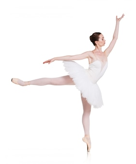 Baleriny taniec balet na białym tle