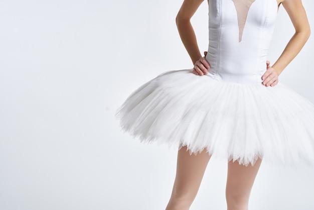 Baleriny z białą elegancką tutu