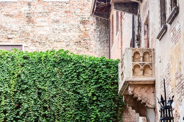 Balkon romeo i julia w weronie we włoszech.