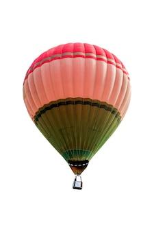 Balon na ogrzane powietrze na białym tle. nieostrość