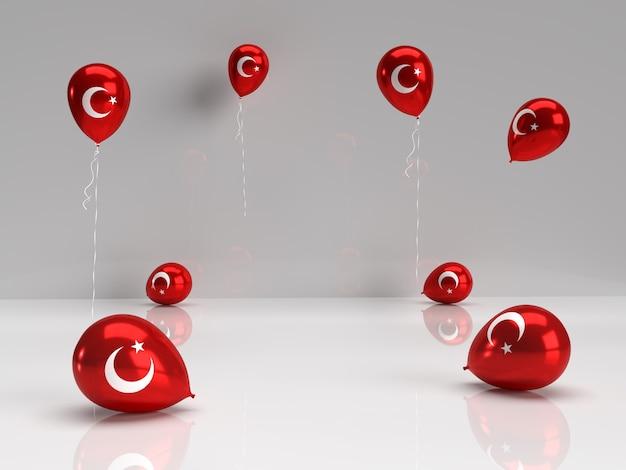 Balon z flagą turecką