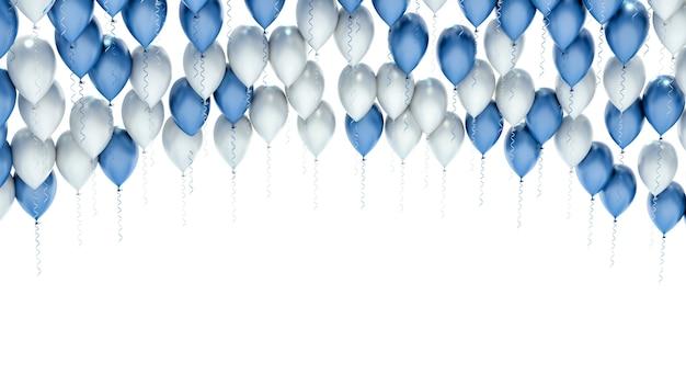 Balony celebracja strony na białym tle