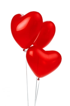 Balony kilka balonów foliowych w kształcie czerwonego serca