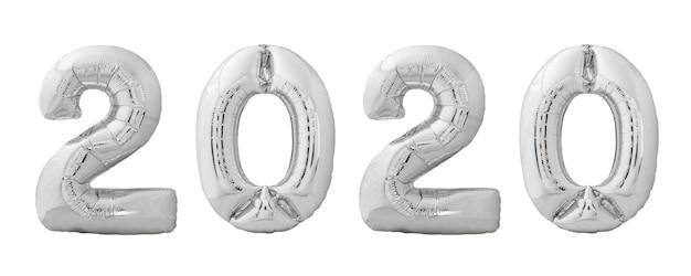 Balony świąteczne 2020 wykonane ze srebrnego chromowanego nadmuchiwanego balonu
