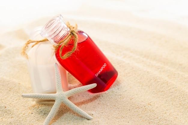 Balsam butelka na piasku