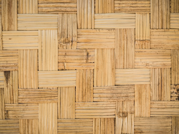 Bambusowa drewniana tekstura, tajlandzki handwork