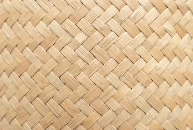 Bambusowa koszykowa tekstura dla use jako tło. tkany koszykowy wzór i tekstura.