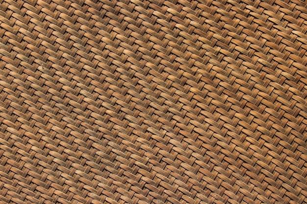 Bambusowa wiklina stara tekstura i tło służy jako materiał do przechowywania suchego jedzenia.