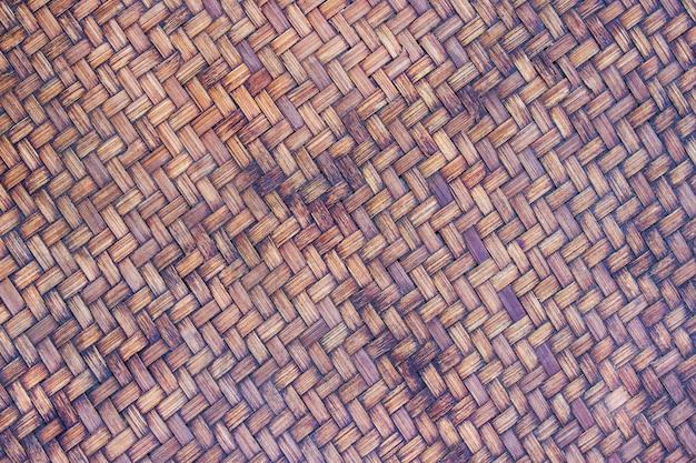 Bambusowa wiklinowa stara tekstura i tło używamy jako materiał dla przechować suchego jedzenie.