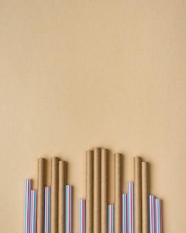 Bambusowe i plastikowe słomki