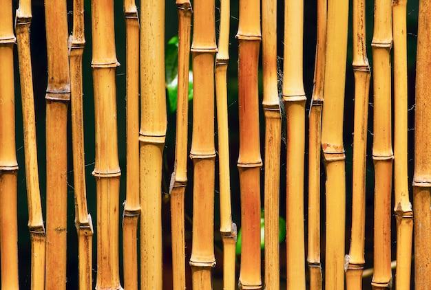 Bambusowe rzemiosło do przegród pokojowych i tła do tapet