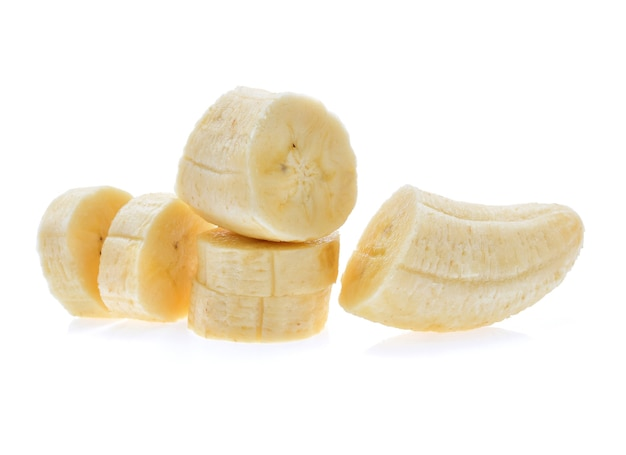 Banan na białym tle.